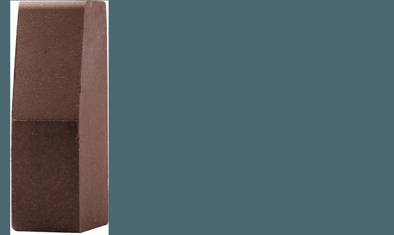element brzegowy brązowy