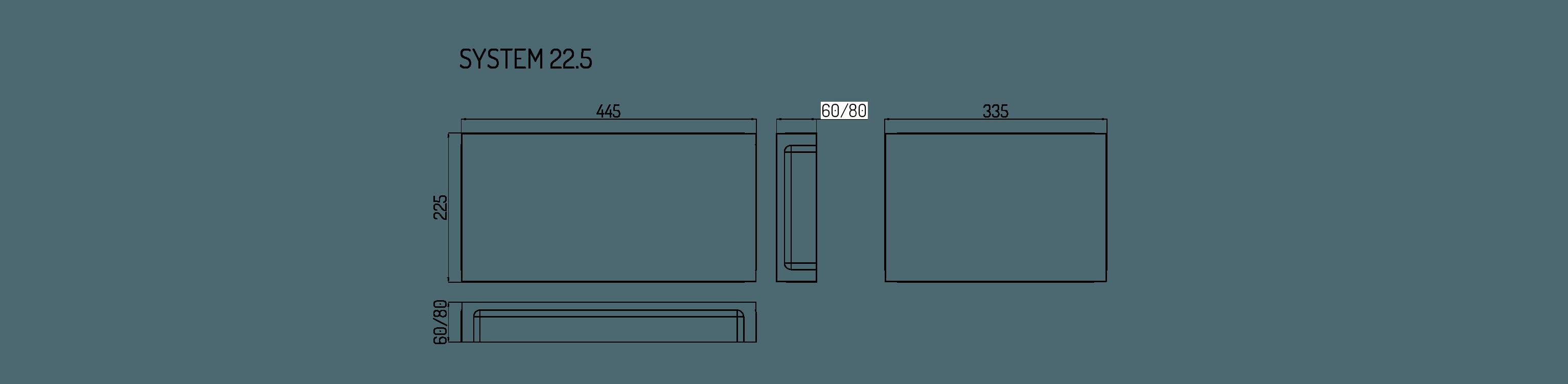 system płyta wymiary