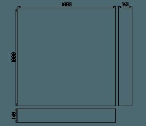 płyta kwadratowa wymiar