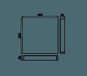 dane kwadratowej płyty