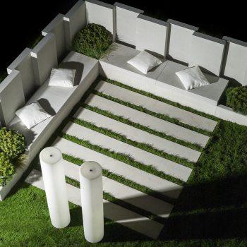 nowoczesne płyty betonowe wogrodzie